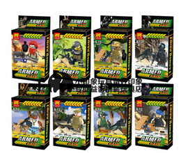 Wholesale Squad Navy Seal Team SWAT Army Police Minifigure Building Blocks Brick Action Toys for Kids Compatible With LegoMinifigure