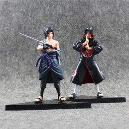 Anime Naruto Uchiha Sasuke Uchiha Itachi PVC Action Figure Collectable Model toy 16cm 2pcs set free shipping EMS