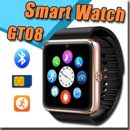 Wholesale 2016 Smart Watch GT08 Clock Sync Notifier Support Sim Card Pedometer Sleep Monitoring NFC Bluetooth for Apple Android Samsung Galaxy Android