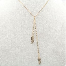 Wholesale 2016 in Europe and the contracted metal feather tassels necklace Contracted foreign trade act the role ofing is tasted