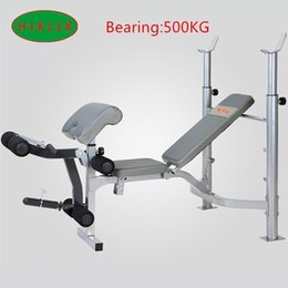 Wholesale Fast Shipping Safety Stability Weight Lifting Bed Multifunctional Weight Bench Bicep Blaster Dumbbell Barbell For Home Workplace