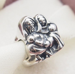 Fits Original Pandora Bracelets & Bangles & Necklaces Holy Family Silver Charm DIY Beads Real Solid 925 Sterling Silver Not Plated