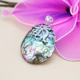 Wholesale 32 mm Embroider Prevalent Ethnic Chic Natural Abalone seashells sea shells pendants short necklace making jewelry crafts gifts