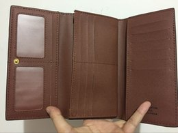 Wholesale 2016 new Classic lattice folding wallet men and women three Folding Universal long wallet best Christmas present N61702