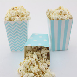 120pcs(10packs MIX) Event & Party Supplies eco craft paper Candy Box Free Shipping blue Popcorn Box
