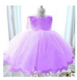 High Quality Summer New Lace Princess Scoop Neck Knee-Length Satin Flower Girl Dress With Sequins Bows
