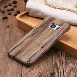Wholesale For Iphone Plus I7 S SE S Samsung Galaxy S7 S6 Edge Plus Wooden Wood Hard Leather Case Fashion Veneer Gluing Phone Skin Cover