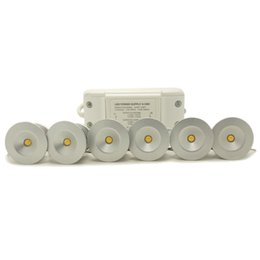 Wholesale Mini LED Downlight Kit Inch W Under Cabinet Recessed Light Complete Set with Power Supply Warm White