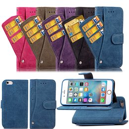 Wholesale Wallet Case for iPhone s Plus Cover Convenient Cool Revolving Card Slot Frosting Rough Ati skid Surface