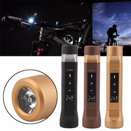 Wholesale Multifunction in Speakers Flashlight Music Torch Bike Cycling Bluetooth Speakers Power Bank charger for mobile