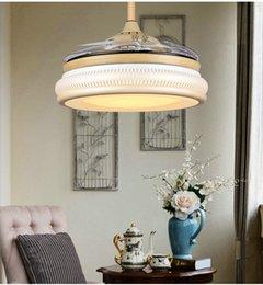 Frequency remote control fan light pendant chandelier fan light mute 42inch LED living room bedroom fan light pendant chandelier