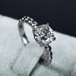Wholesale CZ diamond engagement rings for women stainless steel jewelry antique vintage custom rings Cheap ring settings for princess cut diamonds