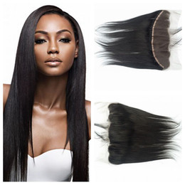 Straight Bleached Knots Lace Frontal Closure Free Middle Three Part No Shedding No Tangle Brazilian Human Hair Wefts LaurieJ Hair