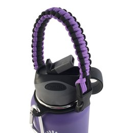 Wholesale Hydro Flask Handle Flaskars Paracord Carrier Survival Strap Cord with Safety Ring and Carabiner Fit for Hydro Flask Water Bottles