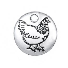 Wholesale mm Tiny Chicken Charm Fit Necklace Antique Silver Chicken Jewelry jewelry making