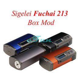 Wholesale ORIGINAL Sigelei Fuchai TC Temperature Control TCR Calculation Fuchai TC Mod Box Mod OLED VS Sigelei Snowwolf TFV8 Baby