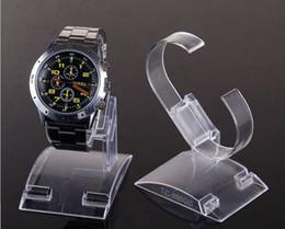 Relojes de los hombres titular en venta-estilo 20pcs / lot anillos C- venta caliente de plástico transparente del reloj del sostenedor de la exhibición del estante de la tienda Tienda Stands de gran tamaño para el reloj del hombre