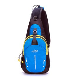 Wholesale Nature Hike Waterproof Nylon Single Shoulder Bag Chest Bag Running Messenger bag Pouch Bosom Bag Outdoor Sport Climbing Backpack