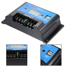 Anself 10A 12V / 24V LCD солнечный регулятор обязанности автоматического регулятора PWM зарядки USB выход панели солнечных батарей Защита от перегрузки от Поставщики панели солнечных батарей регулятора контроллер заряда