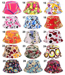 27 Colors 2016 New Fashion Women Summer Bucket Sunhat Wide Brim Flower Printing Basin Canvas Topee Hats Sun Protection Beanie Caps