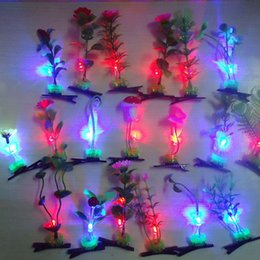 Wholesale Creative new sell Meng artifact sprouts flower head grass emitting headband hairpin Man Show scenic decoration