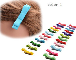 5 style option! Baby Girl Boutique Hair Bows Ribbon-Wrapped No-damaged Mini Bow Hair Barrettes Hair Clip For Kids Toddlers 100pcs