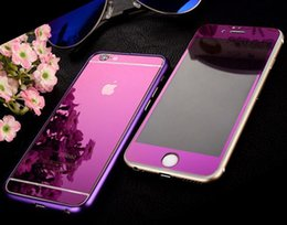 Wholesale For iphone plus in Metal Bumper Full body tempered glass Front Back Cases Cover phone Case For iphone6 S plus