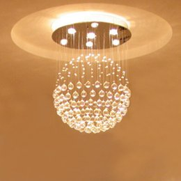 For foyer bedroom living usage dinning vintage vintage modern round ball sphere globe global crystal LED ceiling light lamp