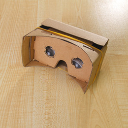 Wholesale 3D Glasses VR Glasses DIY Google Cardboard Mobile Phone Virtual Reality Unofficial Cardboard VR Toolkit D Glasses Support inch DHL