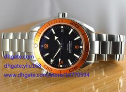 Mens Top Wristwatch HOT Orange 232.30.42.21.01.002 BRAND PLANET OCEAN Stainless Steel automatic mechanical Sport Black rubber watch Watches