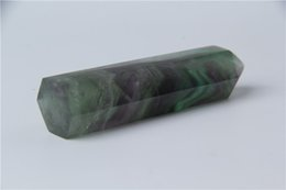 HJT 87g hot sell New crystal point natural fluorite dream quartz POINTS HEALING crystal quartz wands for selling