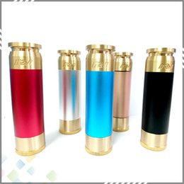 Wholesale Vaporizer Able Mod AV style Mech Electronic Cigarette Clone fit Battery Mechanical Mod Colors Brass material DHL Free