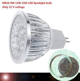 1pcs lot high power MR16 12V 9W 12W 15W Dimmable led spotlight lamp bulb warm cool white LED light