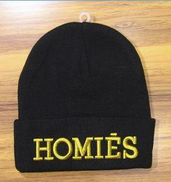 Hight quality men Homies beanie black color fashion knit beanies skull caps hats casual streetwear women spring autumn winter beanies