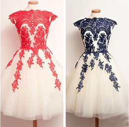 2019 Popular Luxury But Cheap Knee Length Homecoming Dresses Free Shipping Applique In Stock Party Dresses evening Wear Short Prom Dress