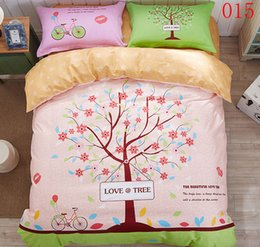 Wholesale Cartoon Bicycle Tree Cotton Bedding Set Bedclothes Sets Bed Linens Comforter Covers Duvet Cover Flat Bed Sheet Pillowcase
