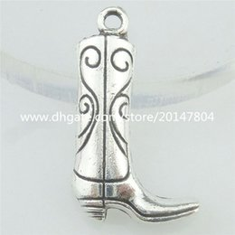 Wholesale 16811 Alloy Antique Silver Vintage Thigh Boot Knee Boot Pendant Charm