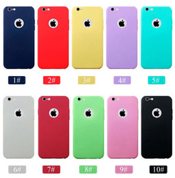 Cell Phone Cases For iPhone 6 6S Ultra Thin TPU Solid Color Frosted Phone Case Apple Series Raindrops Mobile Factory