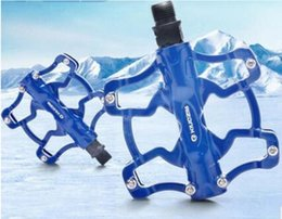 Wholesale Kingsir Bike Pedals Ultralight Aluminum Alloy Mountain Bike Folding Dead Fly Road BMX Peilin Bearing Footboard Riding Accessories