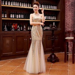 Sparkly Champagne Gold Sequins Mermaid Bridesmaid Dresses Long Sweetheart Wedding Guest Dress Cheap Bridesmaids Formal Dress Under 100