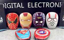 Wholesale High Quality Cartoon external Battery emergency Iron Man mAh USB Power Bank Charger Power Bank Marvel Heroes Captain America Super