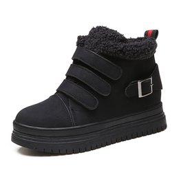 Acheter en ligne Air en cuir libre-chaussures de mode des femmes commerçantes gratuites bottes pour femmes 2016 hiver bottes de qualité de la mode femme hiver en cuir chaussures de sport en plein air Intensifier cheville Bo