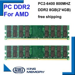 Wholesale hottest RAM DDR2 Mhz GB KIT of x4gb ddr2 KVR800D2N6 G PC2 only for AMD motherboard