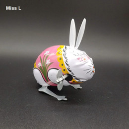 Collectible Classic Retro Tin Clockwork Jumping Rabbit Great Gift Toys For Children Brain Teaser IQ Game Toy
