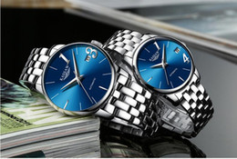 Hot Couple Luxury Watch women mens watches Top Brand Fashion Full Stainless steel Quartz Wristwatches for Men Ladies best gift Free Shipping