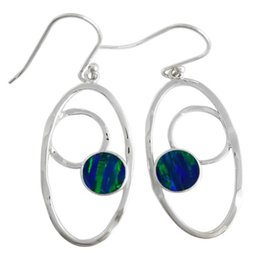 American handcrafted sterling silver 925 Opal earrings gemstone Jewelry for women in fashion for E7575