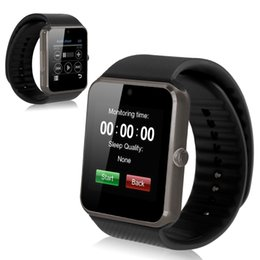 2017 apple iphone smart watches Meilleure Qualité Bluetooth Smart Watch GT08 Pour Android IOS iPhone Wrist Wear Support Sync Carte SIM / TF Card Pedometer Surveillance du sommeil abordable apple iphone smart watches