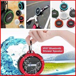Wholesale C6 Waterproof Outdoor Bluetooth Speaker TF Wireless Music Loudspeaker Portable Shower Bicycle Speaker For Bike Bathroom VS JHW