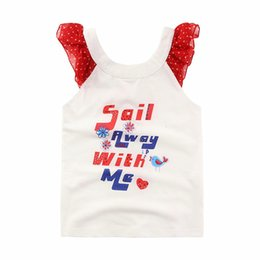 2016 Girls Summer Cotton shirt Short Kids sleeveless Diamond Letter Print Tops Sale Away With Me Print tshirt Size100-130
