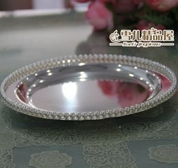 The new round silver beads fruit snacks fruit disc dry cake pan Home Furnishing high-grade decoration decoration